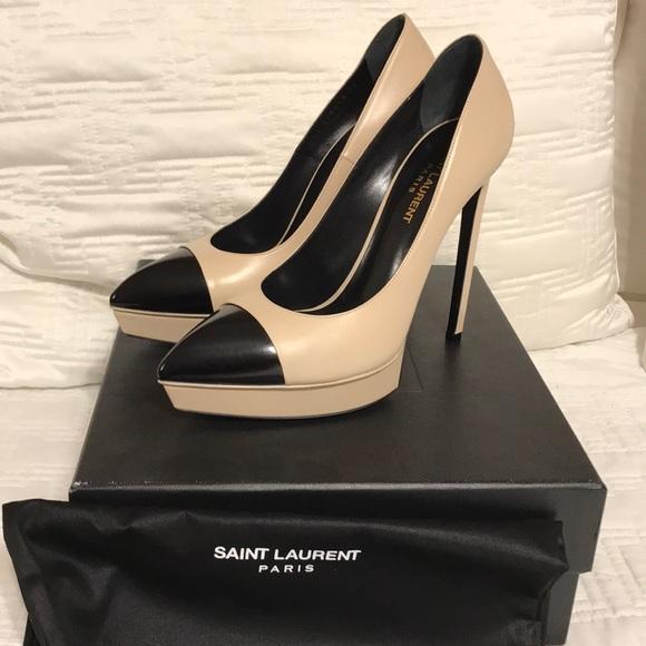 1ee703ee62b Yves Saint Laurent Shoes | Ysl Classic Janis 105 Cap Toe Heels ...